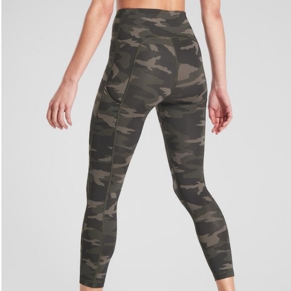 Leggings army green camo pattern